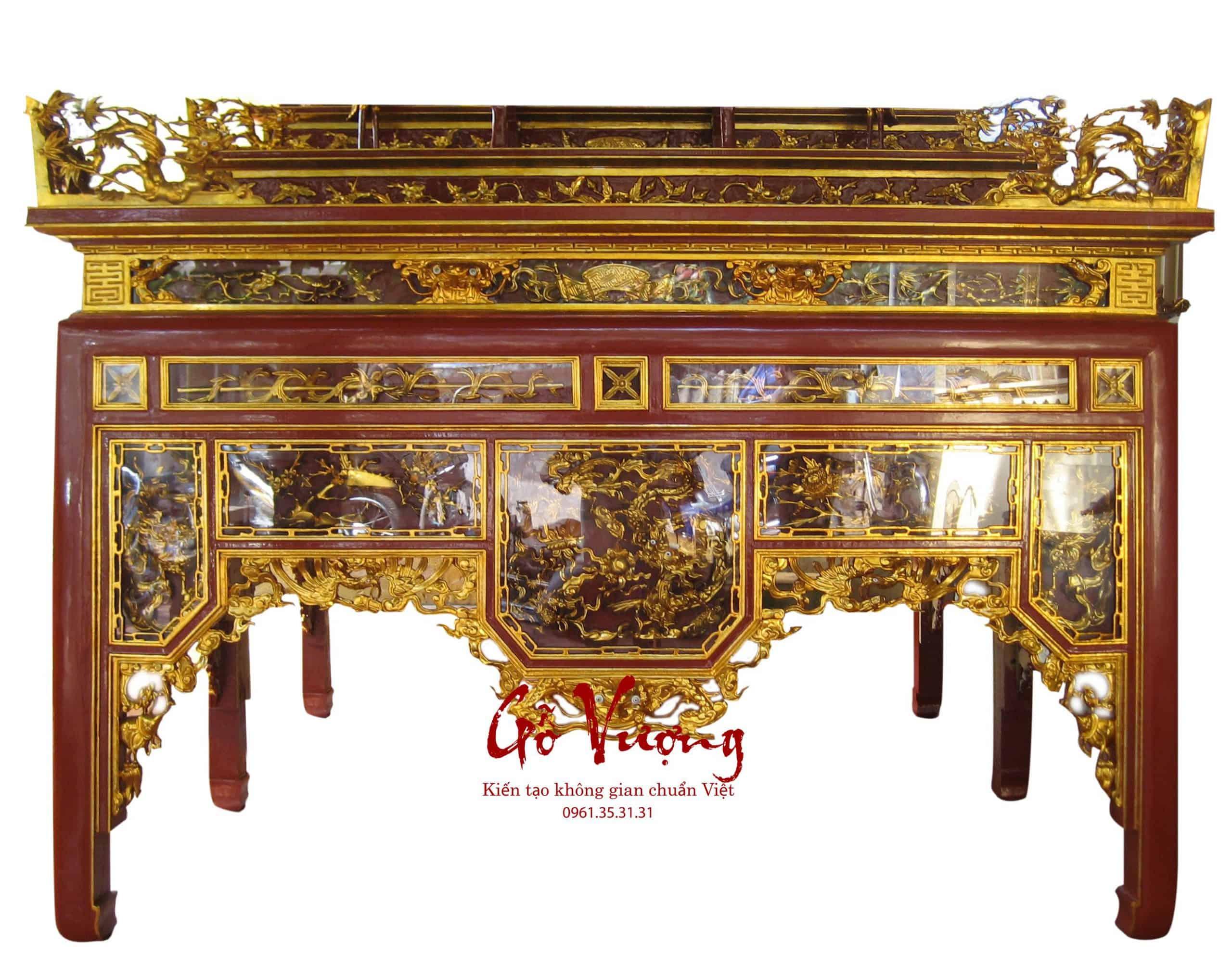 bàn thờ ô sa tam cấp