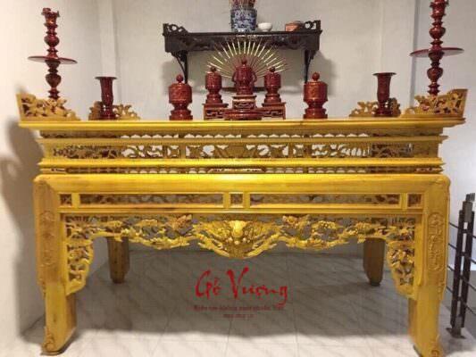 Mẫu án gian thờ đẹp gỗ mít có ý nghĩa tượng trưng sâu sắc