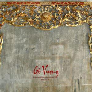cửa võng thờ mai điểu thếp vàng