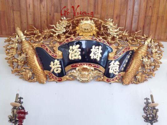 Cuốn thư tứ linh hóa bốn chữ vàng cao cấp
