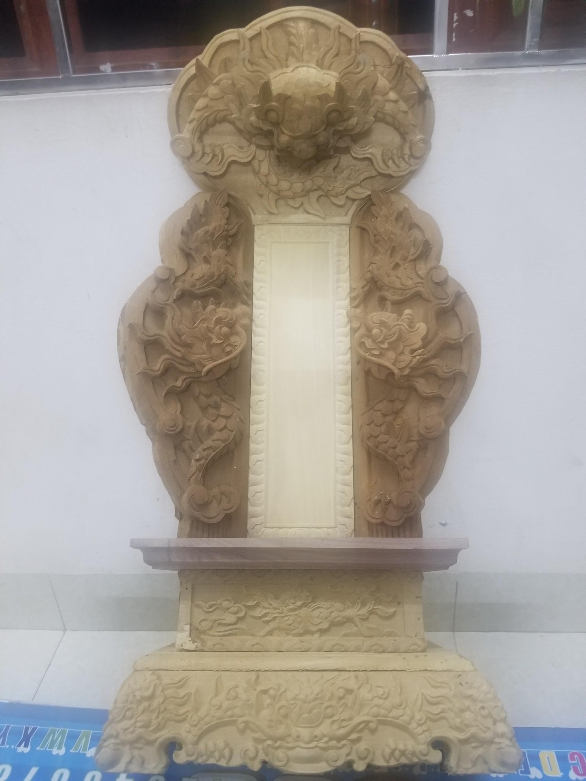 bài vị thờ gia tiên bằng gỗ dổi