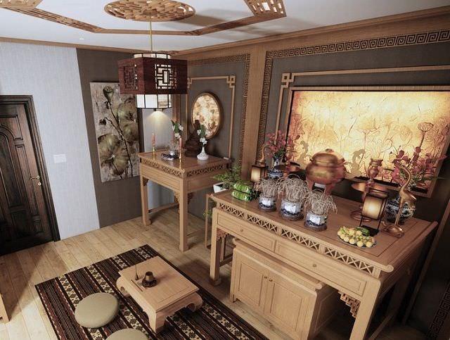 Vị trí đặt bàn thờ Phật và bàn thờ gia tiên phải trang nghiêm