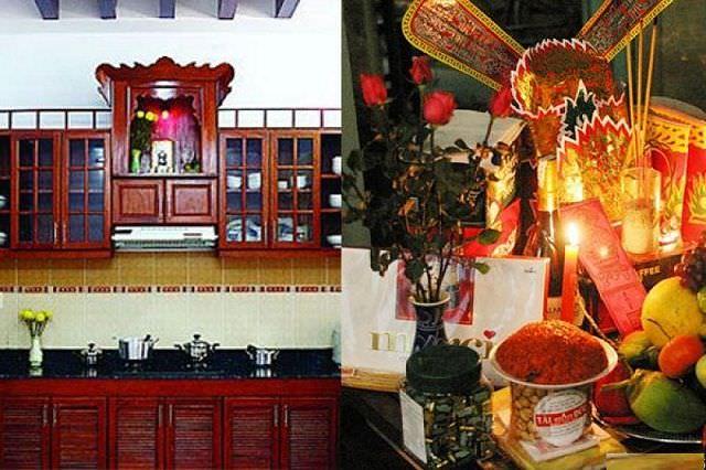 Lập bàn thờ ông táo là nét đẹp văn hoá người Việt