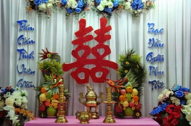 Cách trang trí bàn thờ gia tiên ngày cưới ở miền Nam