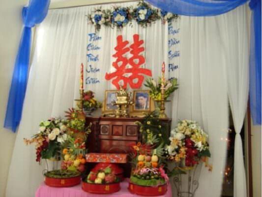 Cách trang trí bàn thờ ngày cưới ở miền Bắc