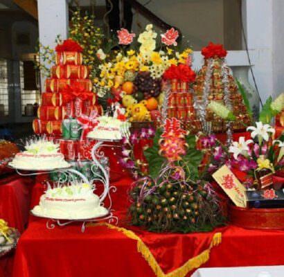 Trang trí bàn thờ ngày cưới ở miền Trung