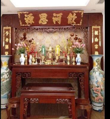 Cuốn thư câu đối bàn thờ là nét đẹp văn hoá Việt
