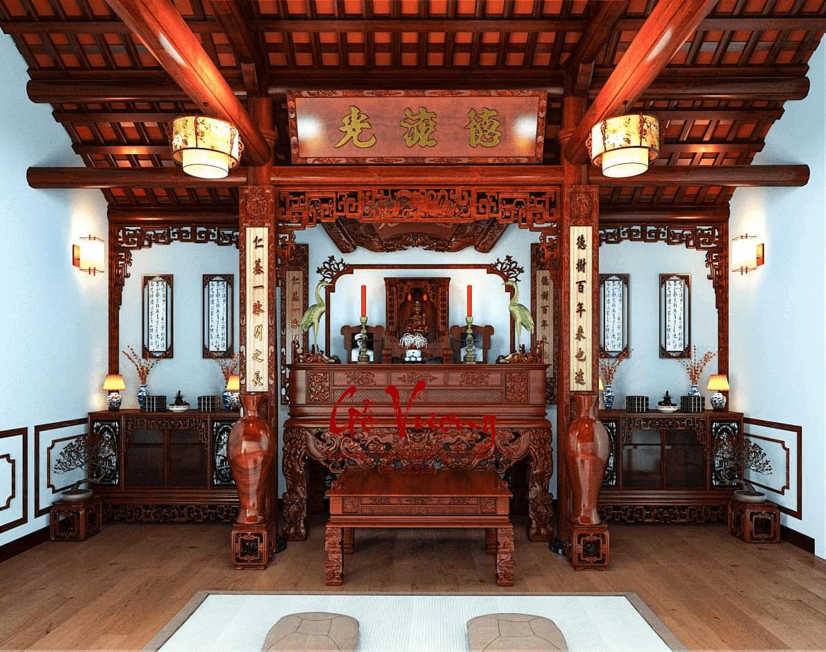 Khong Gian Phong Tho Gia Tien Dep