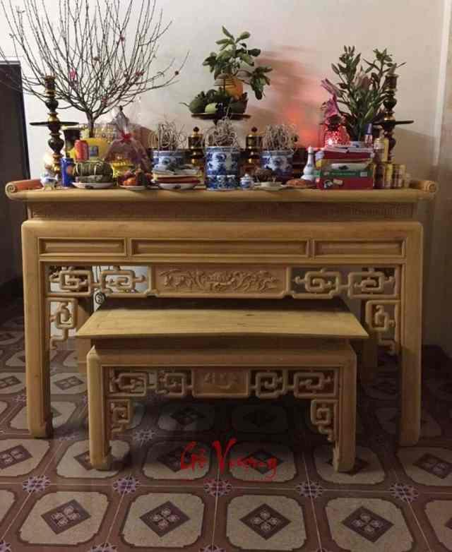 Mẫu bàn thờ án gian được ưa chuộng nhất