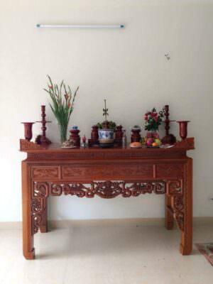 Mẫu bàn thờ gia tiên phổ thông