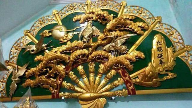 Mẫu quạt thờ bằng đồng