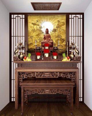 Tủ thờ gỗ hương đẹp
