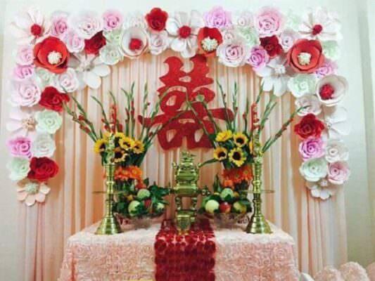 Ý nghĩa của việc trang trí bàn thờ ngày cưới