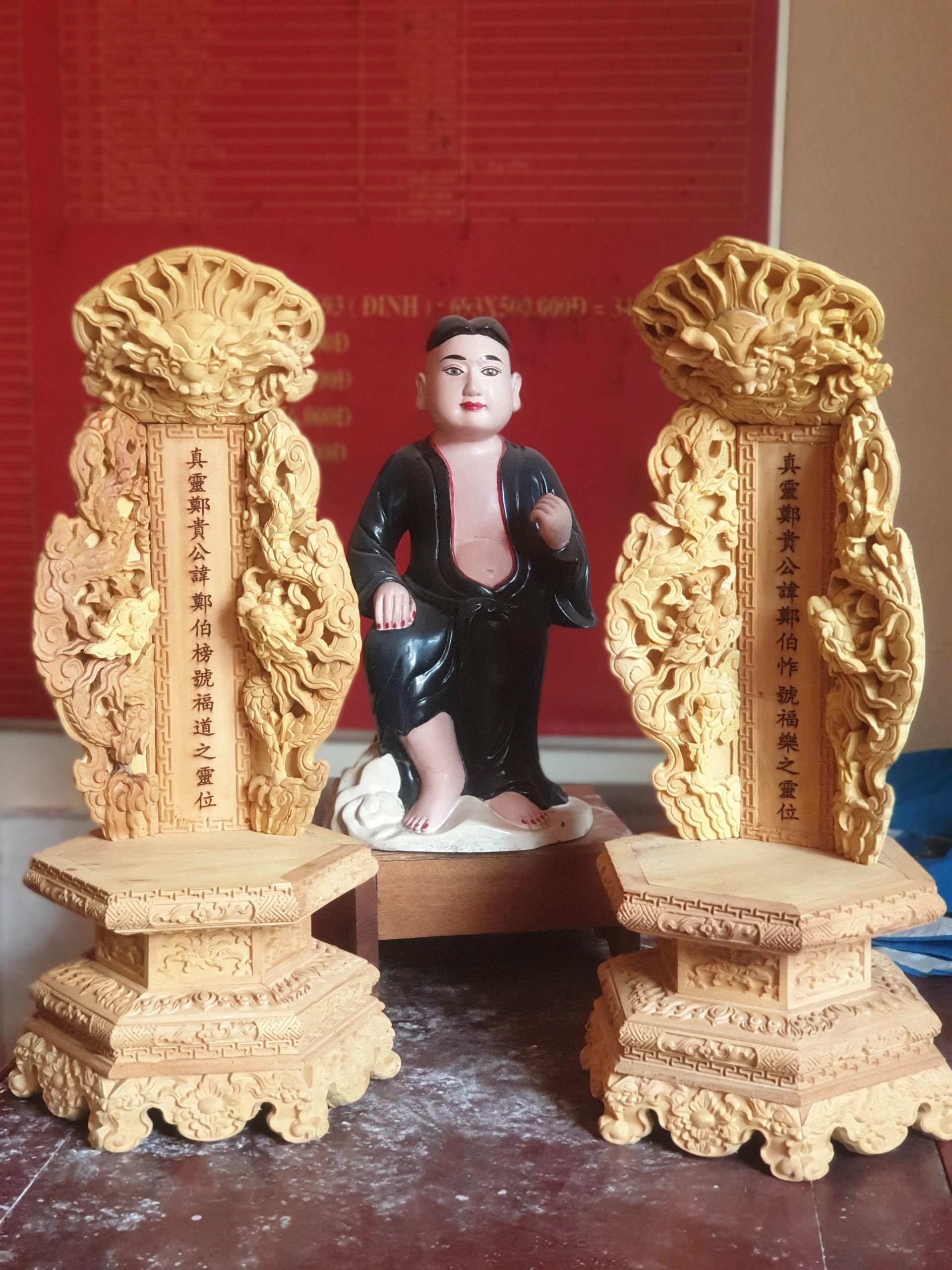 mẫu bài vị bằng gỗ mít vàng óng tại Gỗ Vượng Việt Nam