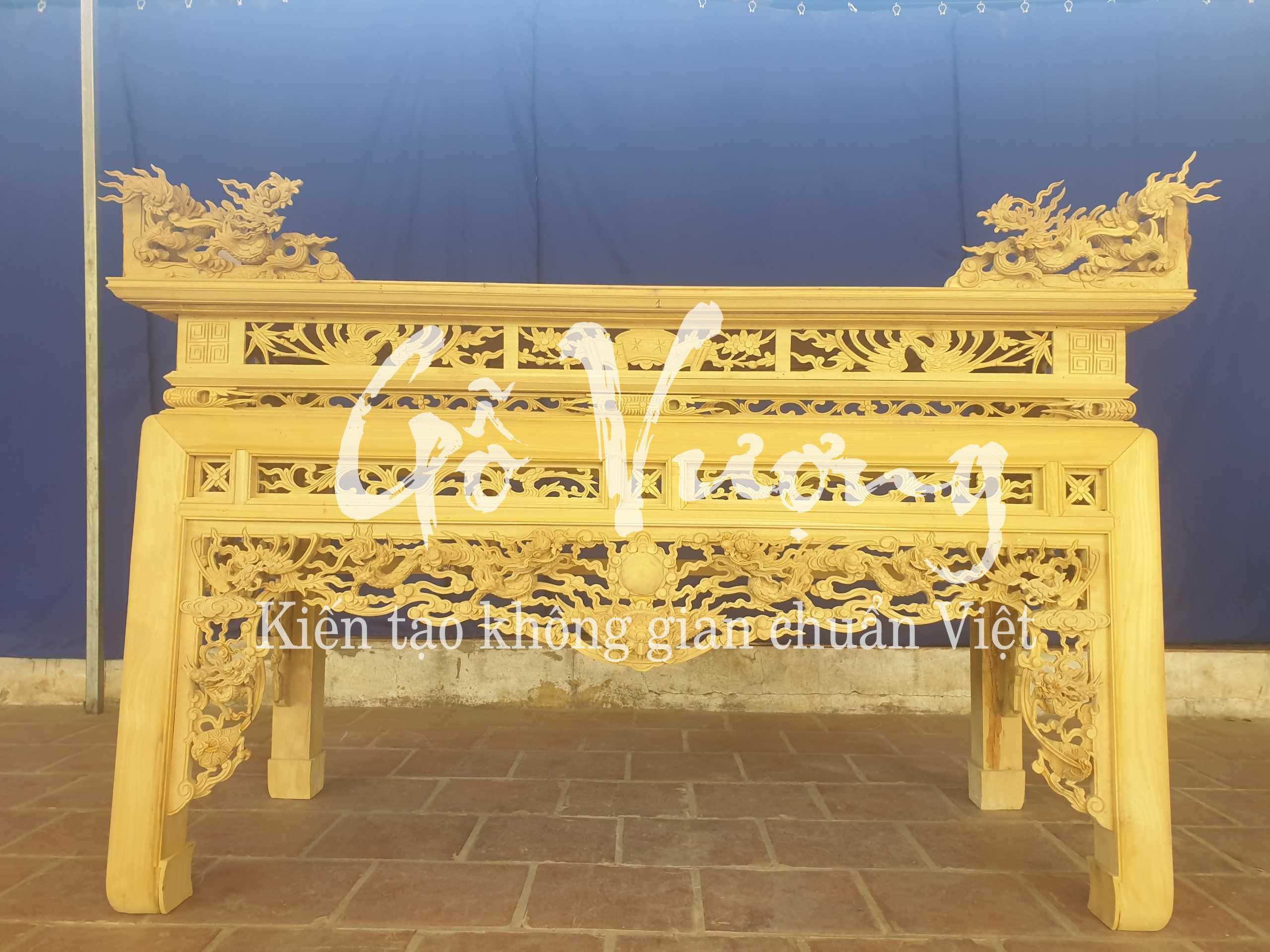 Giá thành mẫu án thờ thờ gỗ mít rẻ