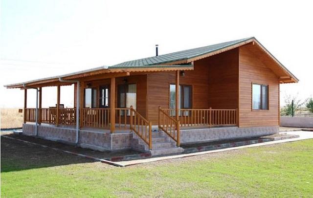 Mẫu nhà gỗ hiện đại 2 gian ấm cúng