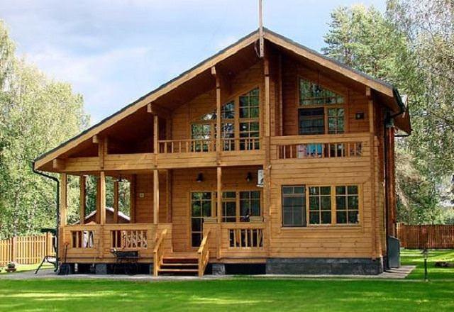 Mẫu nhà gỗ hiện đại theo phong cách Châu Âu