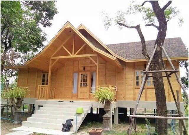 Mẫu nhà gỗ thiết kế 3 gian đẹp ấn tượng
