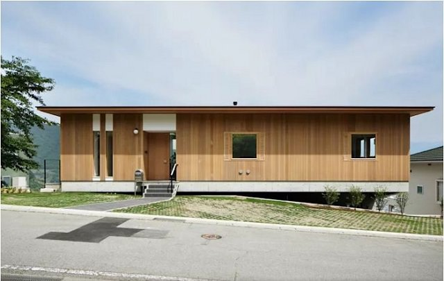 Thiết kế mẫu nhà gỗ hình chữ I độc đáo