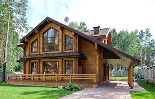 Thiết kế nhà gỗ hai tầng hiện đại tinh tế nhất