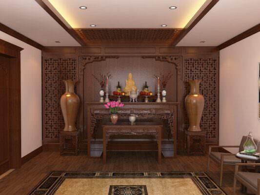 Cần lựa chọn mẫu thiết kế bàn thờ phù hợp với không gian ở trong nhà