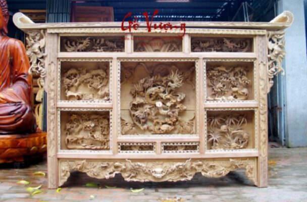 Mẫu bàn thờ chấp tải đẹp tại Gỗ Vượng