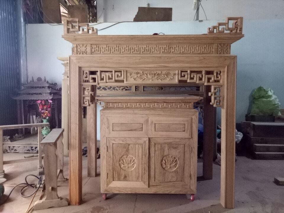 Mẫu bàn và tủ gỗ dổi malay