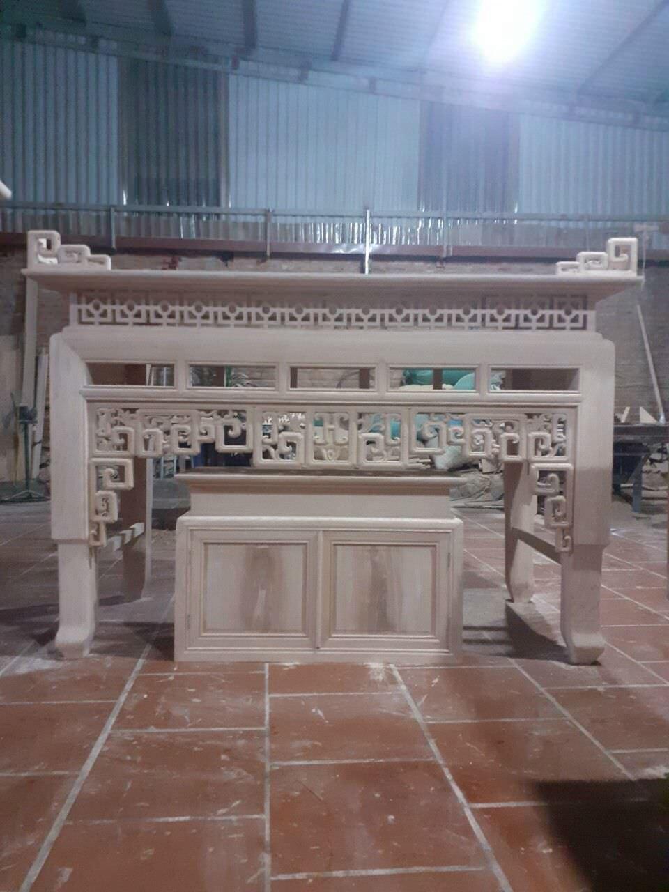 Các mẫu bàn thờ tại Gỗ Vượng đều từ gỗ tốt, 1 màu rất đẹp và không bám rác