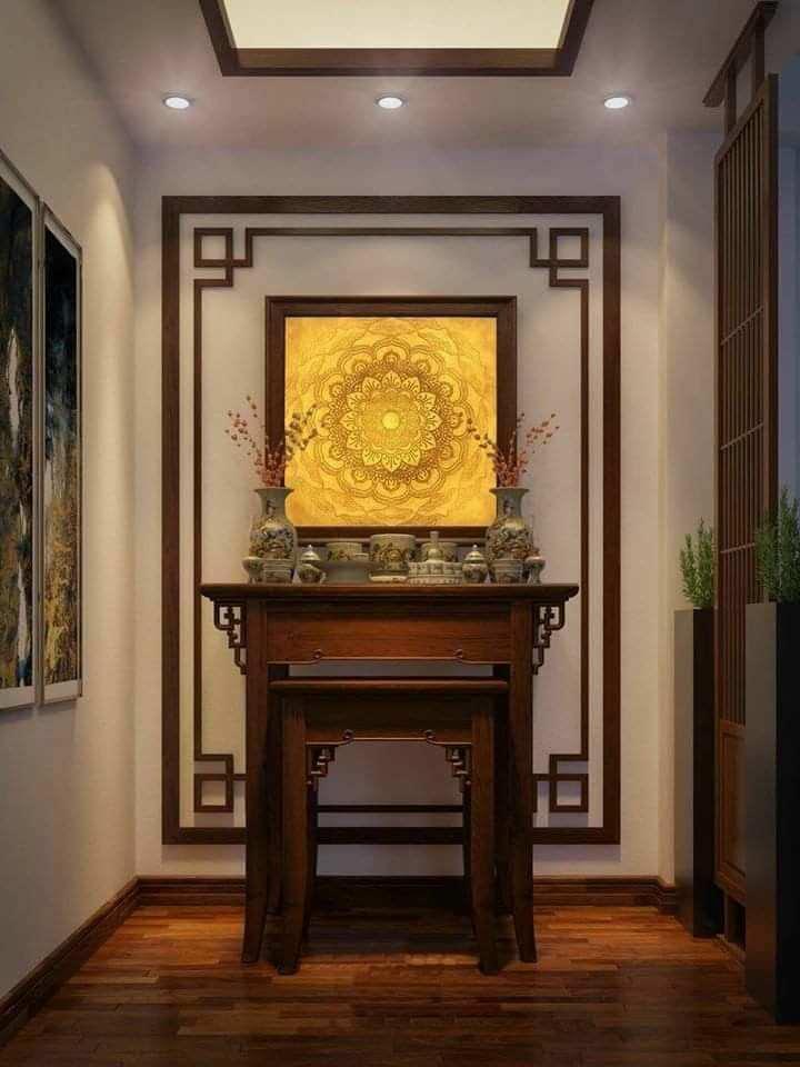 mẫu bàn phù hợp cả với không gian thờ gia tiên và thờ phật