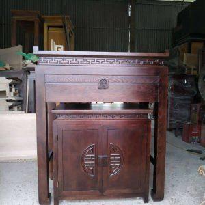 Cặp bàn thờ chung cư gỗ gụ mã cc01