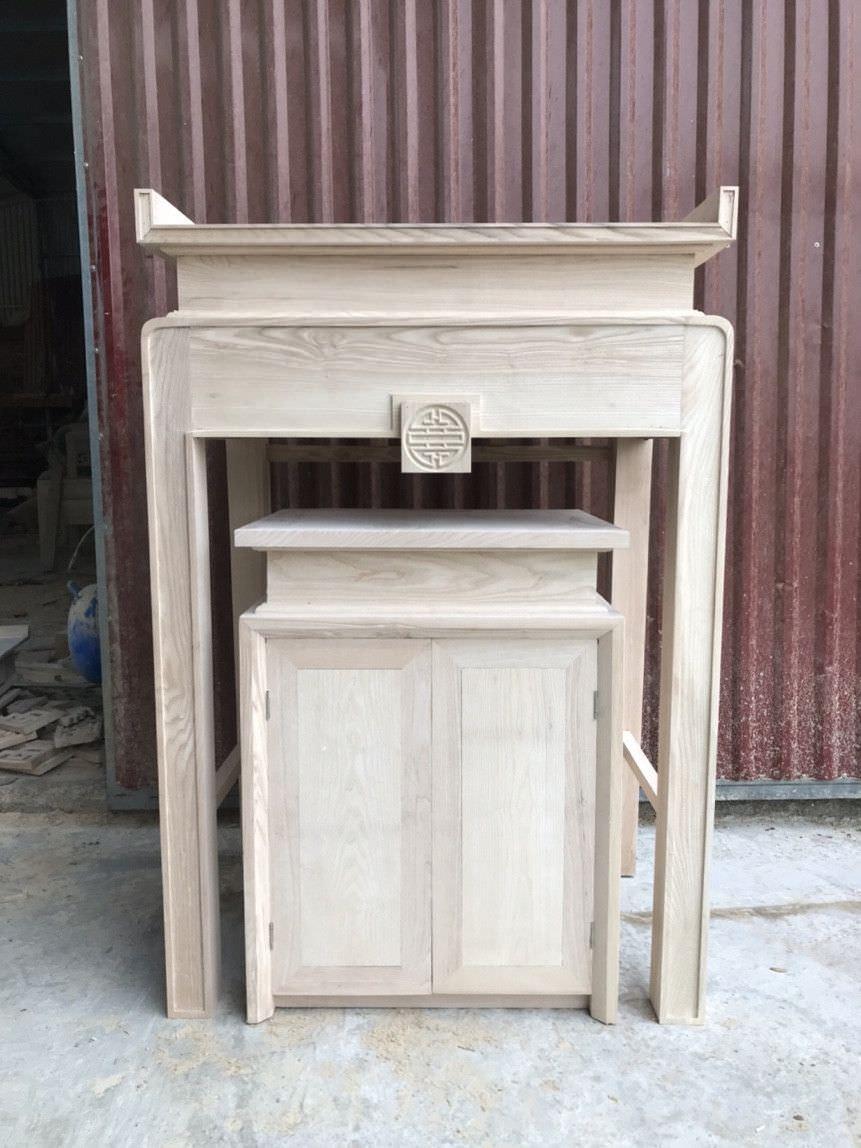 Bàn thờ nhỏ gọn bằng gỗ dổi lào