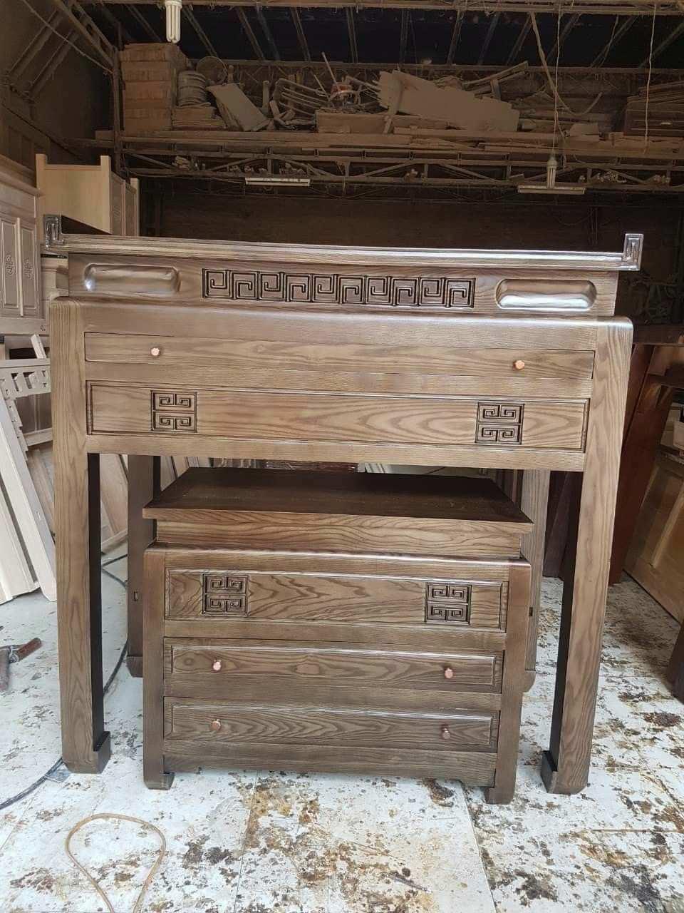 mẫu bàn thờ có tủ đồ ngắn kéo, đơn giản sang trọng