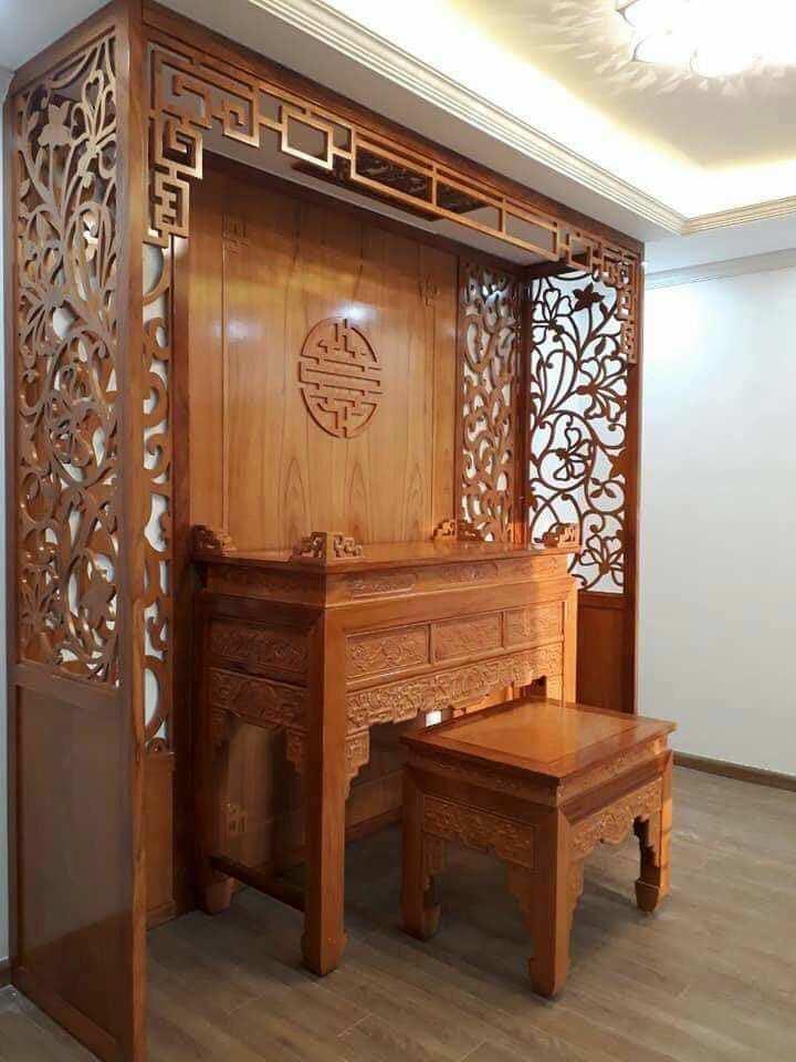 Bàn thờ từ gỗ Hương ta cao cấp