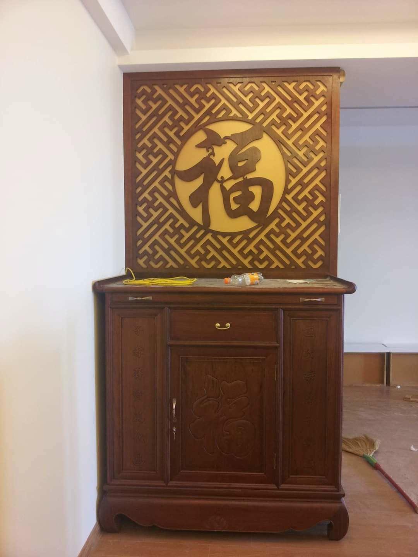 tủ thờ chung cư đục phữ phúc bằng chữ hán nôm