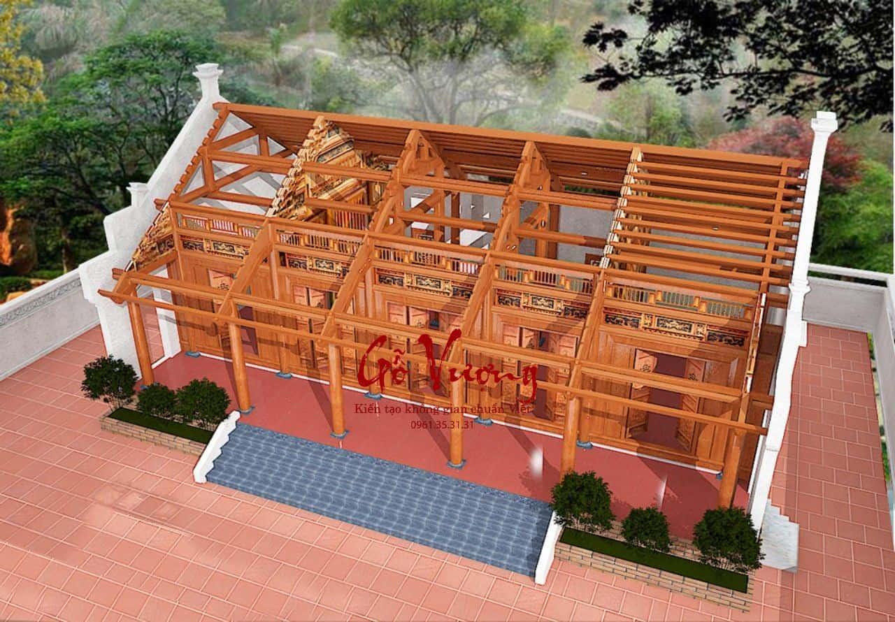 Thiết kế nhà gỗ cổ truyền