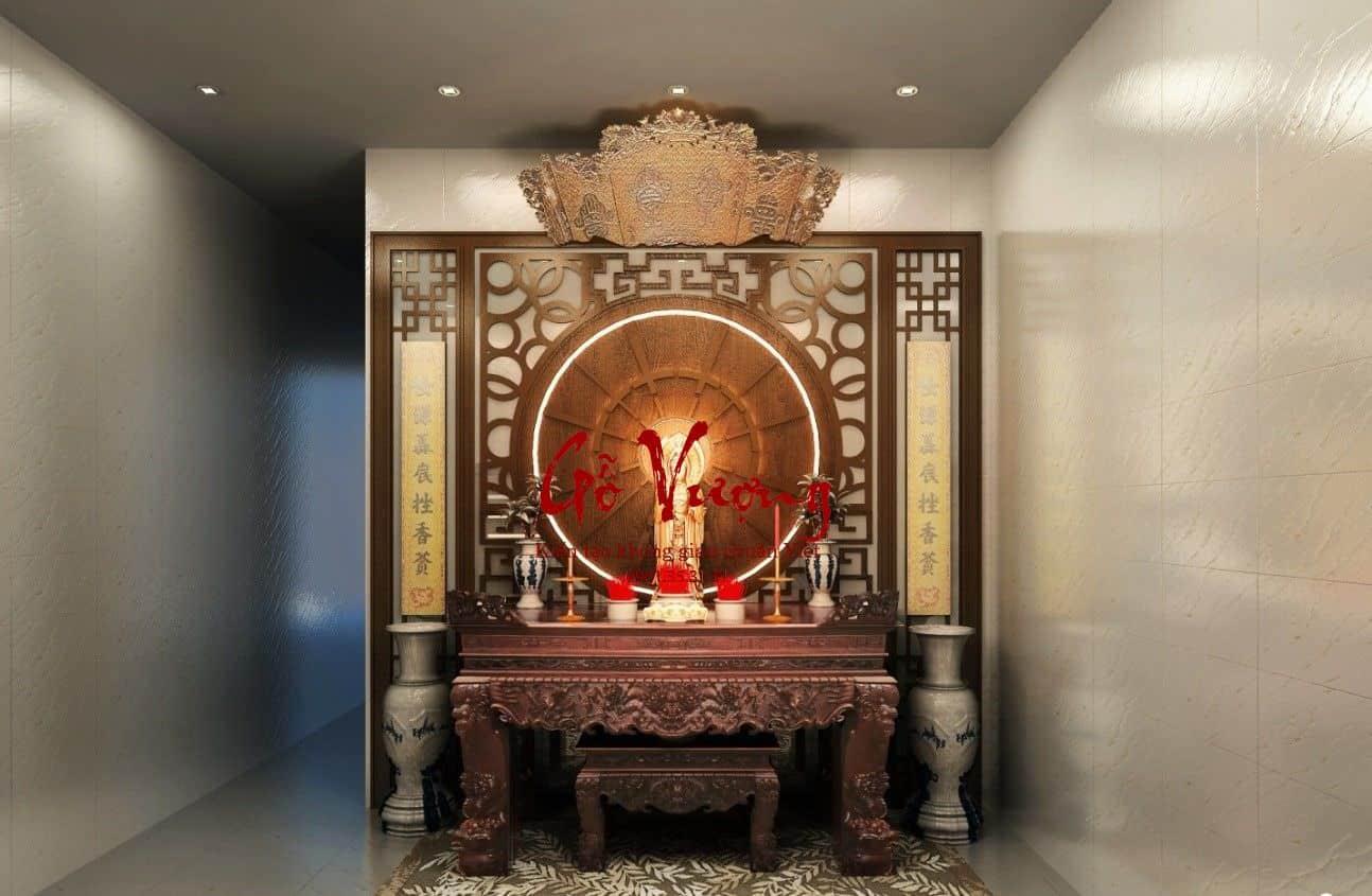 Phòng thờ trang nghiêm, đẹp mắt càng hút lộc về nhà theo quan niệm phong thủy