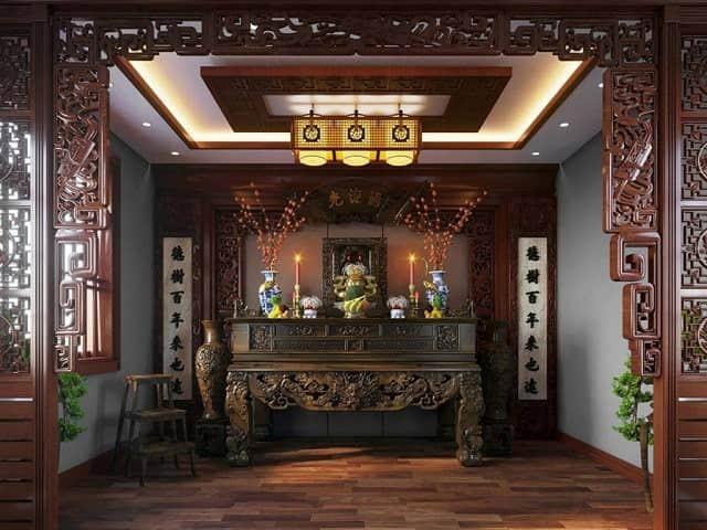 Mẫu phòng thờ cho biệt thự