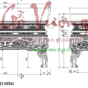 bản vẽ chi tiết sập cổ thời Hậu lê